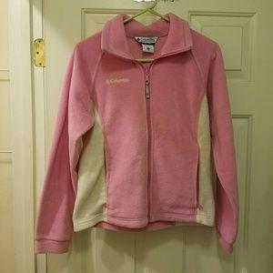 Pink and Cream Columbia Fleece Jacket